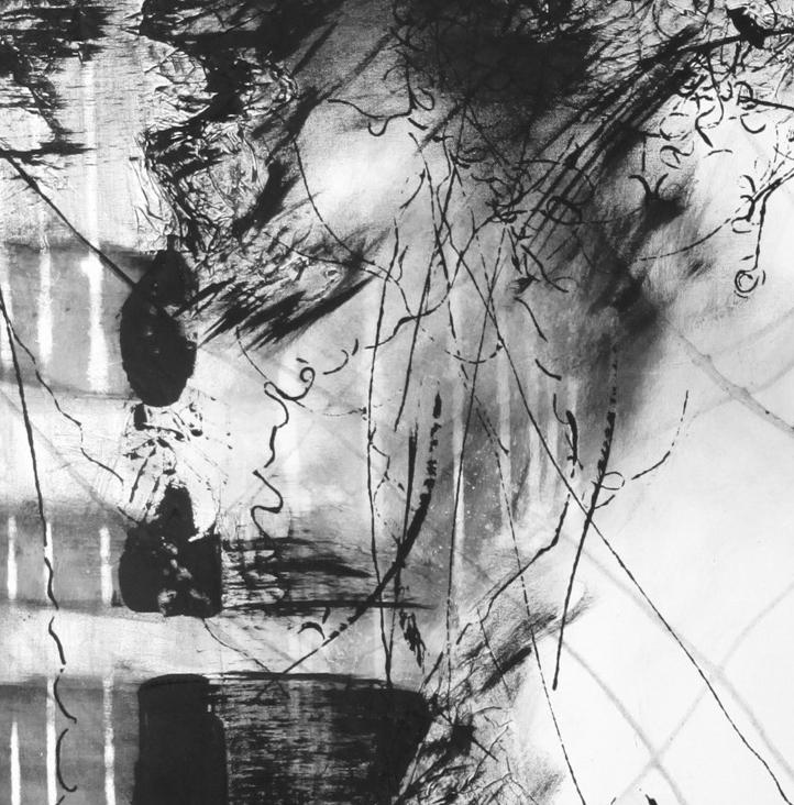Oeuvre de Ginette Morneau en noir et blanc
